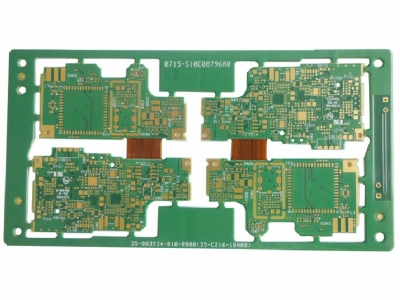 Gold Immersion 10 Layers Rigid Flex PCB for Automobile Speaker